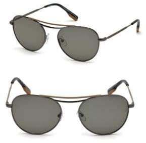 Ermenegildo Zegna 54MM Aviator Sunglasses