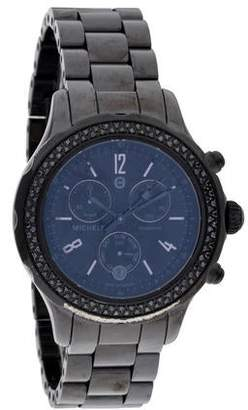 Michele Jetway Noir Diamond Watch