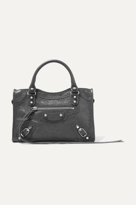 Balenciaga Classic City Mini Textured-leather Tote - Gray