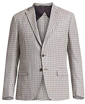 Saks Fifth Avenue Houndstooth Plaid Sportcoat