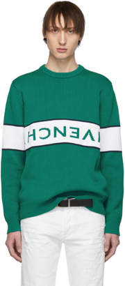 Givenchy Green Reverse Logo Sweater