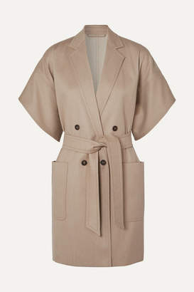 Max Mara Double-breasted Wool-twill Jacket - Beige