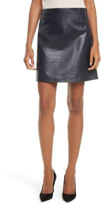 Theory Micro Mini Paper Leather Skirt