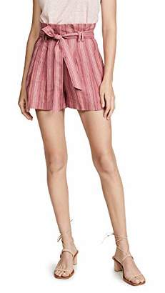 Rebecca Taylor Women's Striped Shorts with Pockets and Belt