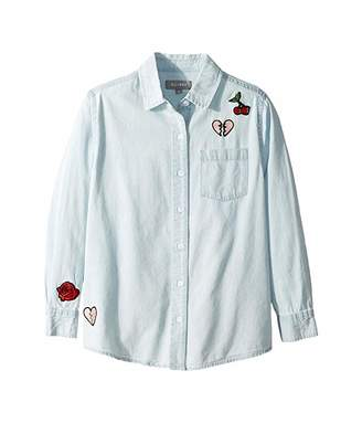 DL1961 Kids Olivia Chambray Shirt with Embroidery (Big Kids)