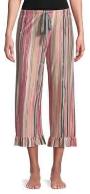 Josie Striped Ruffle Pajama Pants