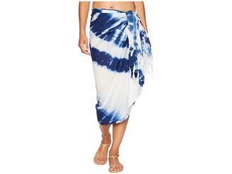 Plush Soleil Marini Tie-Dye Pareo Scarves