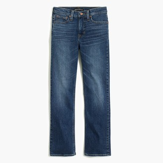 "J.Crew 9"" high-rise flare crop jean in medium wash"
