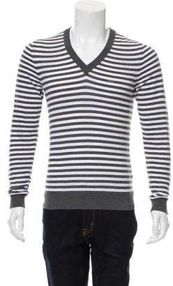 DSQUARED2 Striped V-Neck Sweater