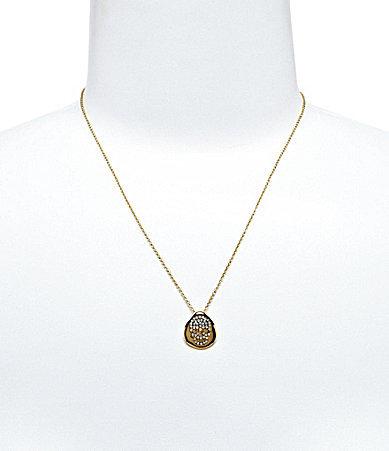 Nadri Skull Disc Pendant Necklace