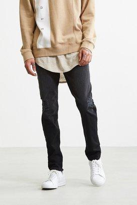 BDG Destructed Black Slim Jean $59 thestylecure.com