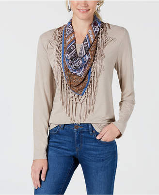 Style&Co. Style & Co Scarf Top