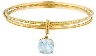 Vera Wang 18K Aquamarine Bangle Set $1,395 thestylecure.com