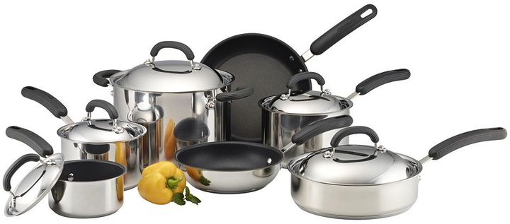 Circulon 12-pc. nonstick steel hard-anodized cookware set