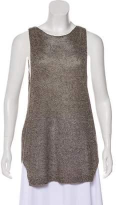 Brochu Walker Linen Sleeveless Knit Top