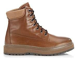 Brunello Cucinelli Women's Mountain Lace-Up Leather Boots