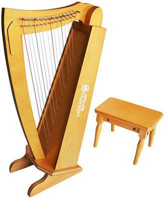 Schoenhut Kids' String Harp Instrument with Bench