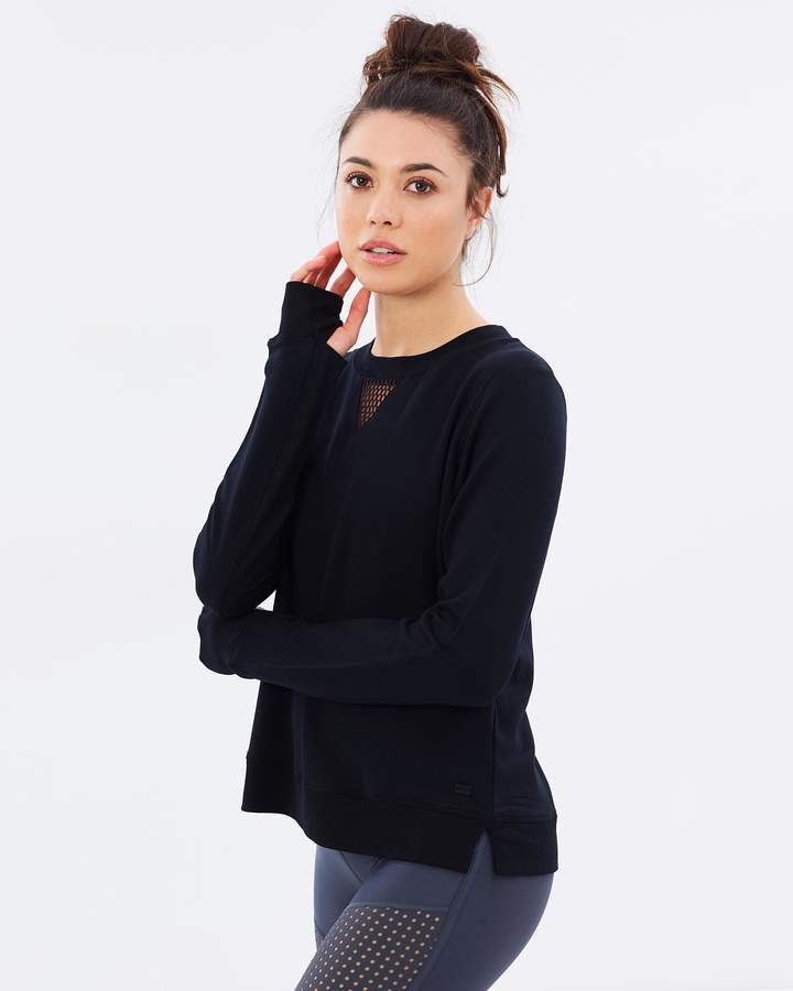 DKNY Sweat Top With Mesh Piecing