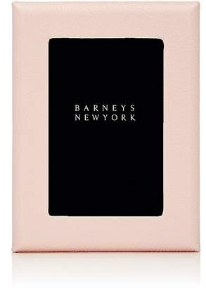 "Barneys New York Pebbled Leather 4"" x 6"" Picture Frame"