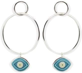 Vintouch Italy - Evil Eye Hoop Earrings