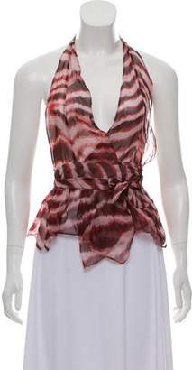Wunderkind Silk Wrap Top w/ Tags