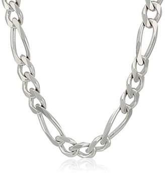 Men's Sterling Italian 5.5mm Solid Figaro Link Chain Necklace