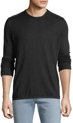 John Varvatos Men's Acid Wash Crew Neck Shirt