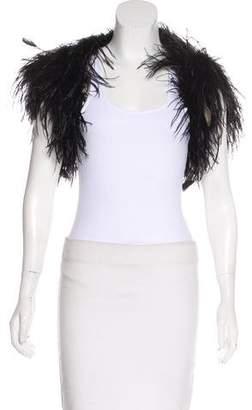 Ralph Lauren Black Label Ostrich Feather Jacket