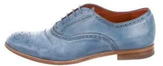Santoni Leather Brogue Oxfords
