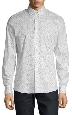Michael Kors Patterned Button-Down Shirt
