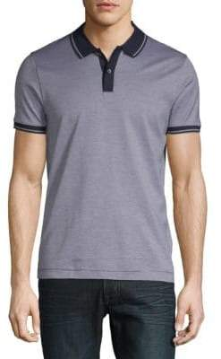 HUGO BOSS Phillipson Heathered Cotton Polo