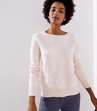 LOFT Petite Snowflake Sweater