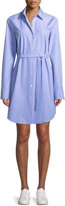 Theory Clean Button-Down Crowley Cotton Shirtdress