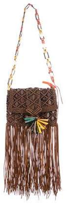 Jimmy Choo Xara Fringed Macramé Bag
