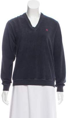 Christian Dior V-Neck Long Sleeve Top