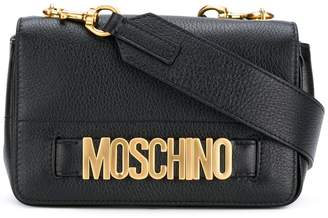 Moschino small logo flap crossbody bag