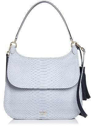 Kate Spade Clinton Street Luxe Jacalyn Embossed Leather Shoulder Bag