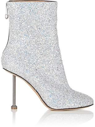 Maison Margiela Women's Metal-Heel Glitter Ankle Boots