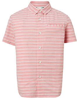 Boys' Dobby Textured Shirt, Pink