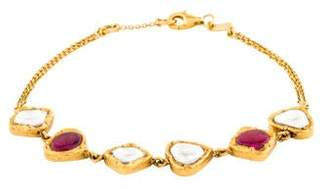 Amrapali Diamond & Ruby Station Bracelet