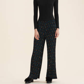 Maje Pleated trousers with floral print