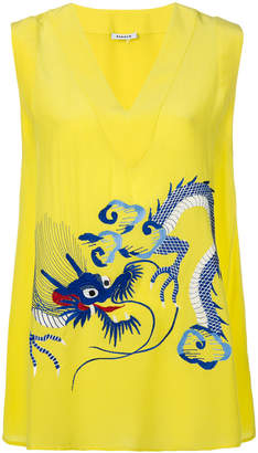 P.A.R.O.S.H. dragon embroidered tank blouse