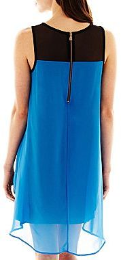 Nicole Miller nicole by Double-Layer Dress