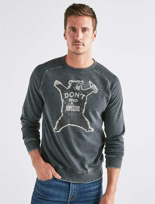 Lucky Brand DON'T FEED HIPSTERS BURNOUT CREW
