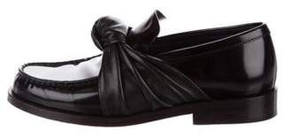 Celine Leather Knot Loafers