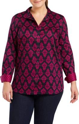 Foxcroft Annie Damask Cotton Shirt