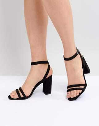 New Look Tube Strap Block Heel Sandal