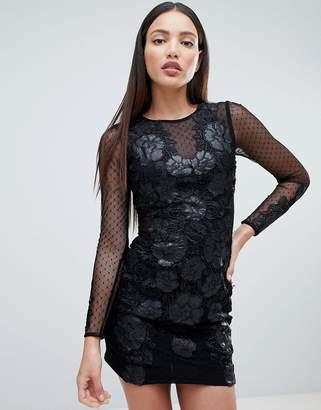 Forever Unique Floral Lace Bodycon Dress