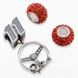 "Insignia Collection NASCAR Denny Hamlin Sterling Silver ""11"" Steering Wheel Charm & Crystal Bead Set"