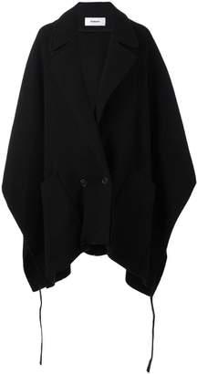 Chalayan pocket poncho coat